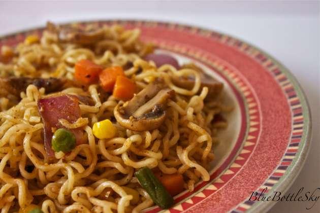 with ramen recipe corn Top  BlueBottleSky Noodles  Maggi/ Veggie ramen
