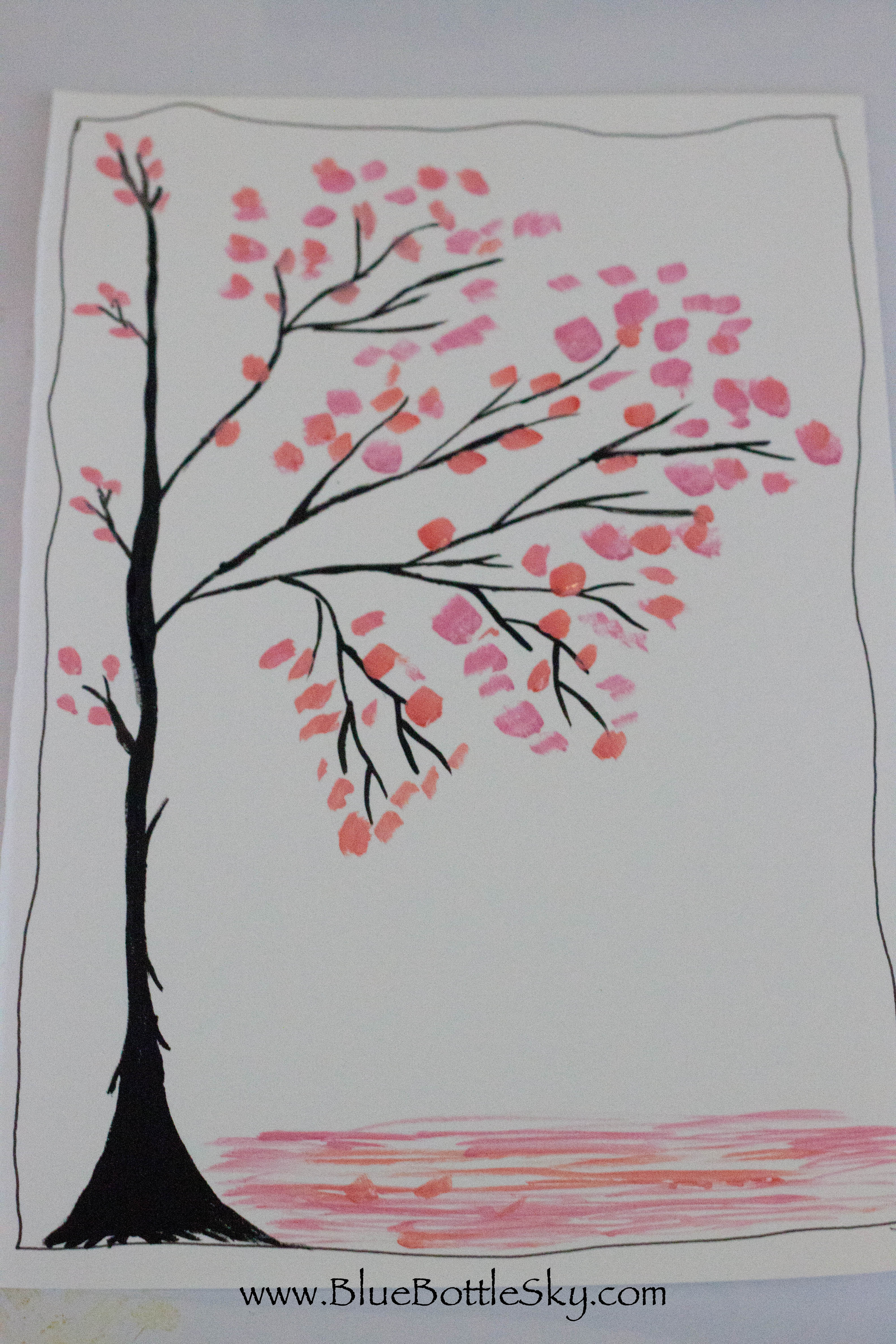 Cherry blossom bluebottlesky for Simple cherry blossom painting